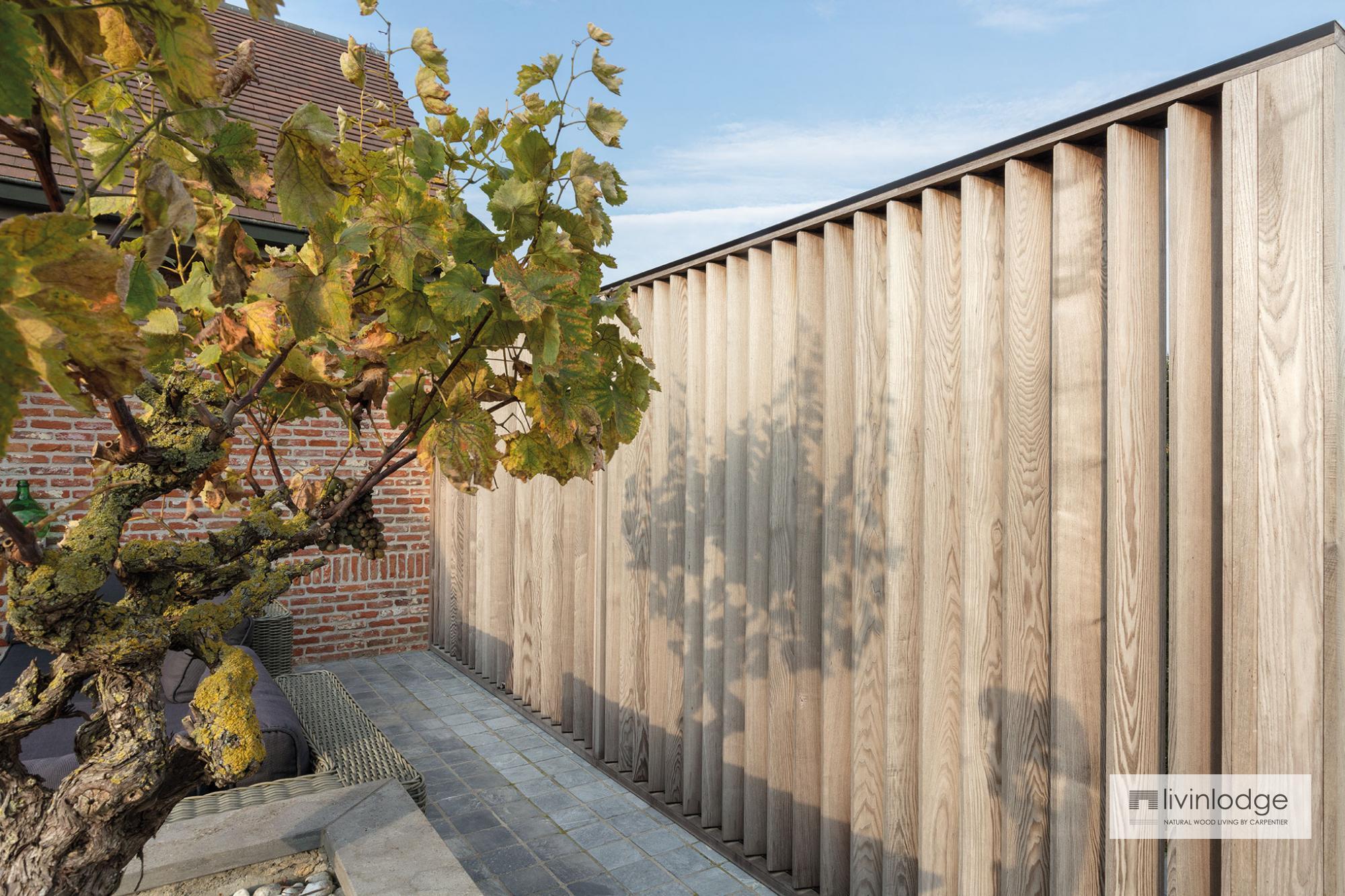 Modern Wooden Shutters As A Patio Screen Meulebeke Livinlodge